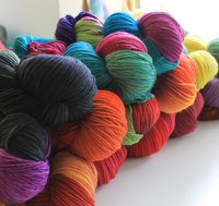 thick handdyed wool for socks (280m/100g)