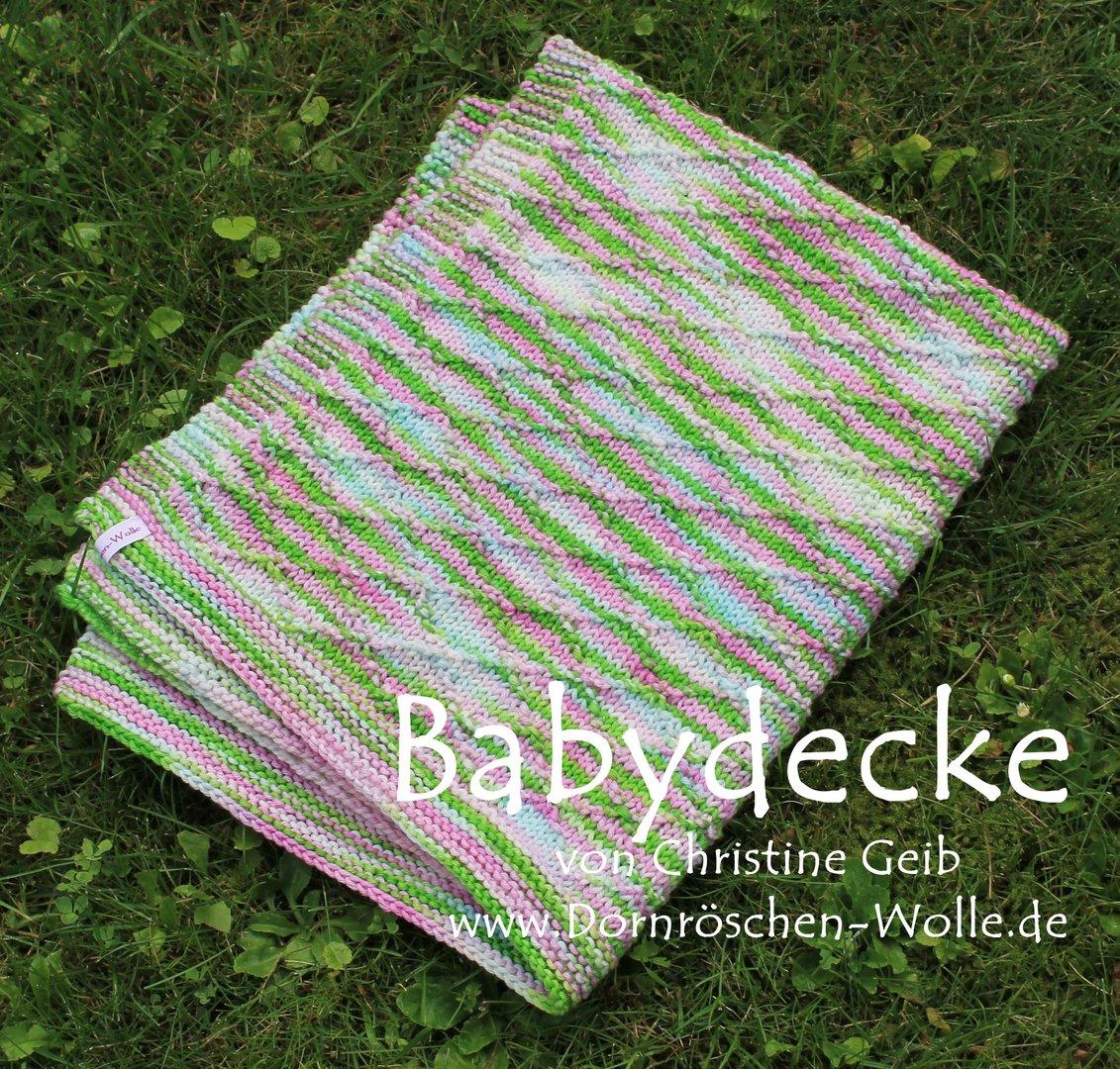 Häufig Strickanleitung Babydecke zum Herunterladen - Dornröschen-Wolle.de GN81