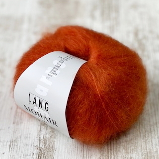 """dunkel orange"" 075 Mohair-Luxe Lang Yarns (LL 175m/25g)"